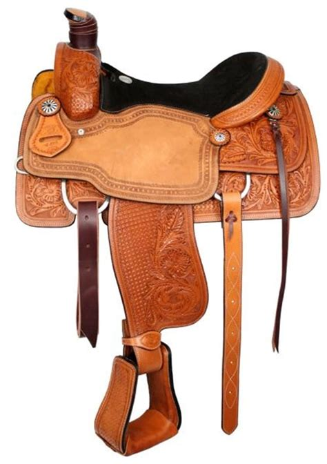 roping saddle circle saddles leather suede seat roper floral western tooled basketweave association tooling modified basket tack thereviewgurus fenders chicksaddlery