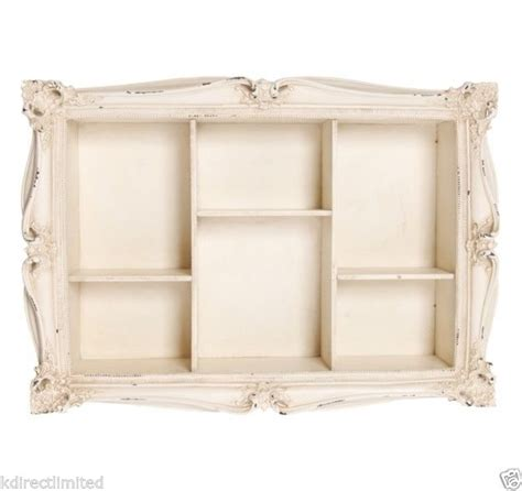 vintage antique style shabby chic wooden carved wall shelf shelves cream decor decoration