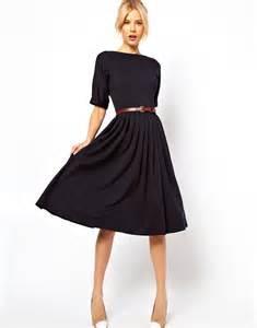 fuste clos asos asos midi dress with skirt and belt at asos