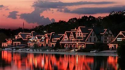 Philadelphia Boathouse Row Sunset Philly Night Pa