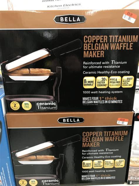 bella copper titanium belgian waffle maker review easy