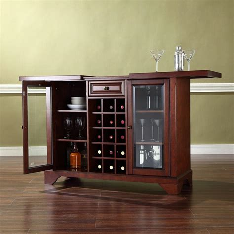 home depot bar cabinets crosley lafayette mahogany bar with sliding top kf40002bma