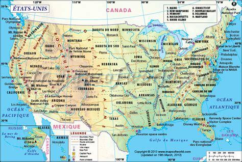 Carte Etats Unis Canada Avec Villes by Carte 200 Tats Unis Carte Usa Carte De L Am 233 Rique