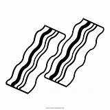 Bacon Coloring Template Templates sketch template