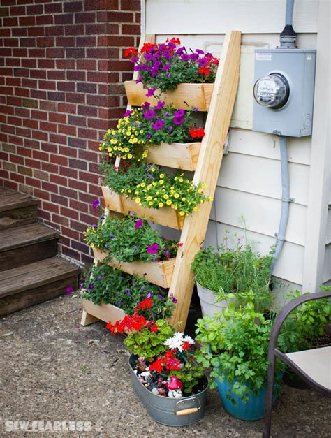 ana white cedar ladder planter diy projects