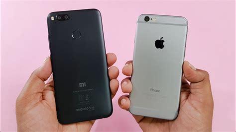 mi a1 vs iphone 6 speed test comparison