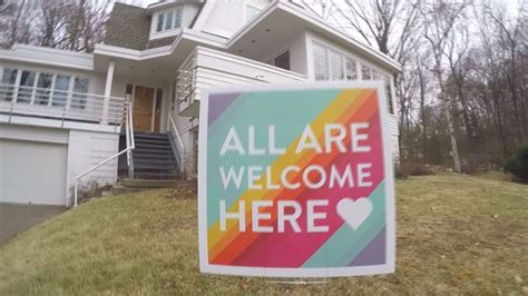 Kare11com  The Story Behind The All Are Welcome Here Signs