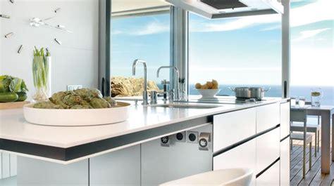 robinet cuisine cuivre plan de travail évier mitigeur côté maison