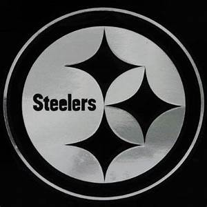 Pittsburgh Steelers Silver Window Logo Decal Sticker