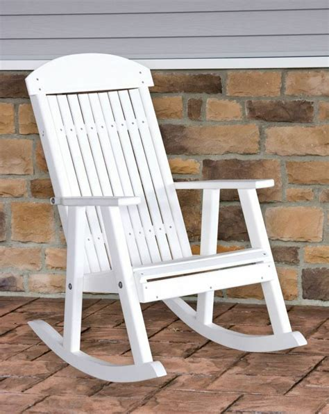 Outdoor Porch Chairs by Poly Furniture Wood Porch Rocker White Outdoor Porch