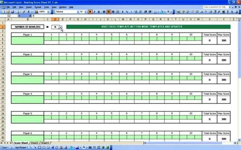 Bowling Recap Sheet Template Sampletemplatess