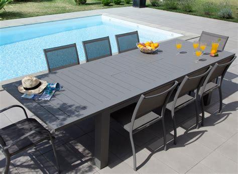 Table De Jardin Aluminium 12 Places Aurore  Gamme Océo