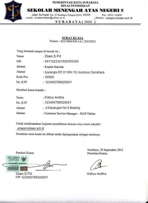 contoh surat kuasa pengaduan ke polisi