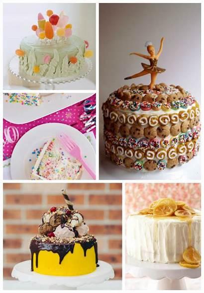 Birthday Cake Collage Round Cakes Clockwise Left