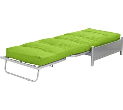 Single Metal Futon Sofa Bed by Buy Home Single Futon Metal Sofa Bed With Mattress Green