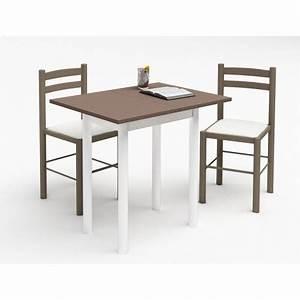 Table Pour Petite Cuisine : petite table de cuisine plateau melamine pieds metal 2 ~ Melissatoandfro.com Idées de Décoration