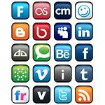 Social Icons Networking Icon Transparent Logos Vector
