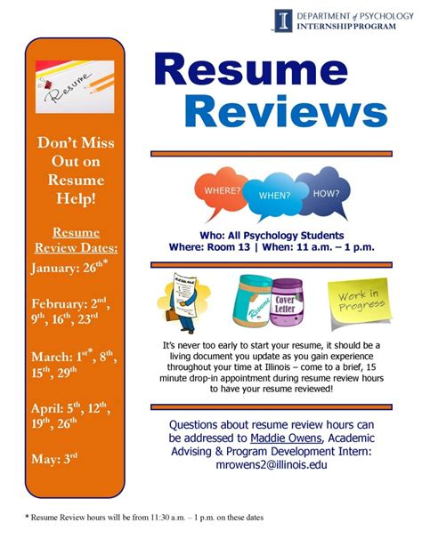 Resume Review by Gary Wszalek S Psychology Advising Wszalek Illinois Edu
