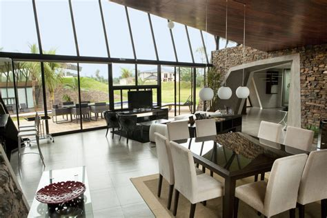open plan glass walls  homes  luque paraguay