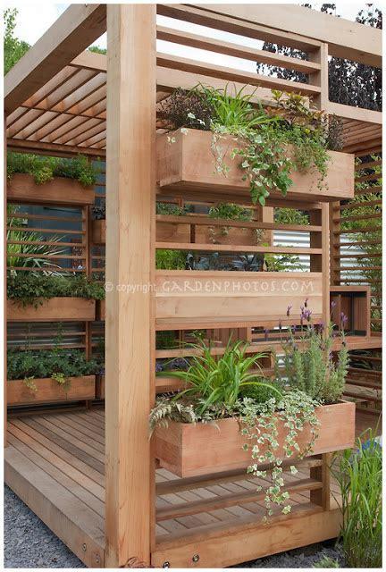 Vertical Garden Boxes by Source Susan Cohan Gardens