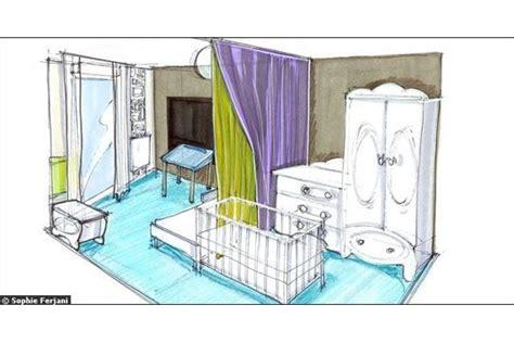 separation chambre parents bebe un rideau en guise de cloison séparation pièce