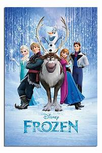 Frozen Disney Movie Cast Large Wall Poster New - Laminated ...