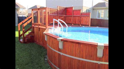 design a deck free deck de piscine hors terre en cèdre isabelle à pierrefonds