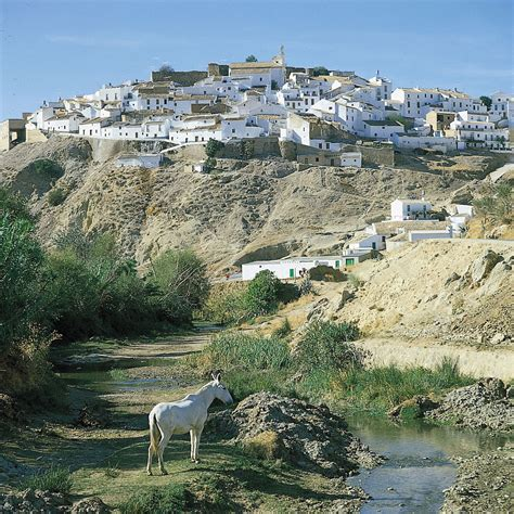 spain andalusia region andaluzija typical housing village showing britannica warren superstock david andalucia