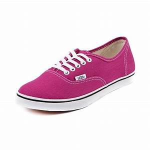 Shop for Vans Authentic Lo Pro Skate Shoe in Fuchsia at