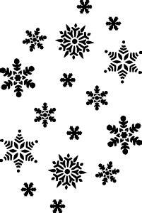 snowflakes silhouette clip art  clkercom vector clip