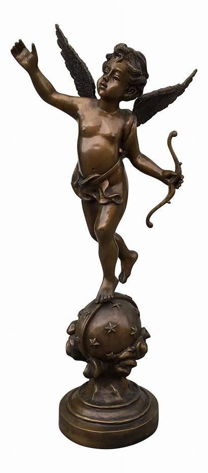 Cupid Statue Bronze Sculpture Statues Chairish Sculptures
