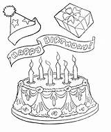 Coloring Birthday Happy Pages Cake Printable Appreciation Grandma Pastor Cakes Card Kitty Hello Cards Gifts Clipart Coloring4free Adult Cartoon Printables sketch template
