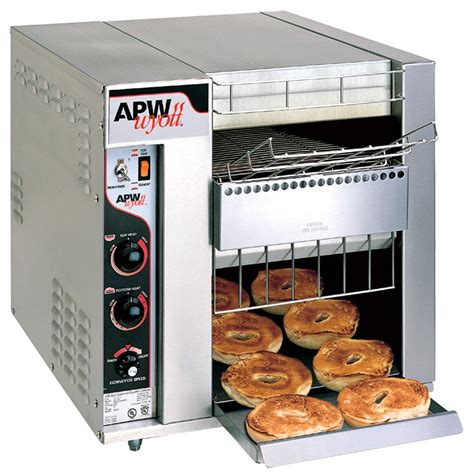 Bagel Toaster by Apw Wyott Bt 15 3 Bagel Master Conveyor Toaster With 3