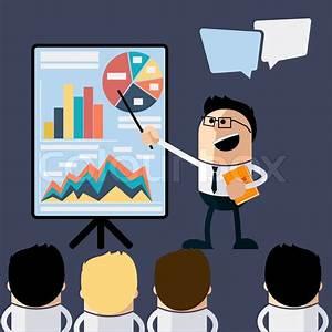 Meeting Businessman Pointing Presentation Infogarhics