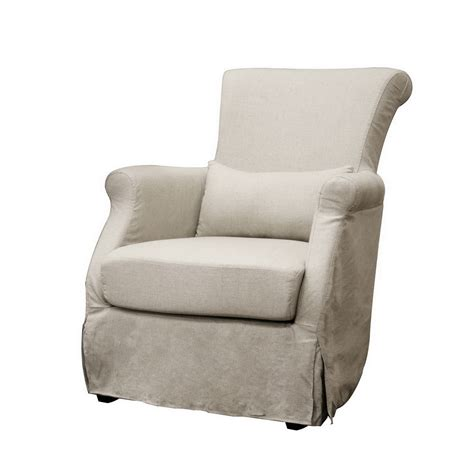 pin armless accent chair on