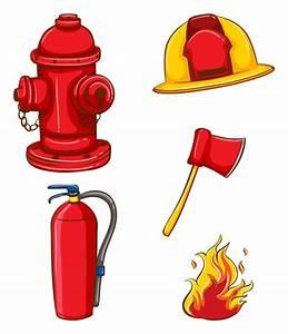 Fireman Equipment Vector