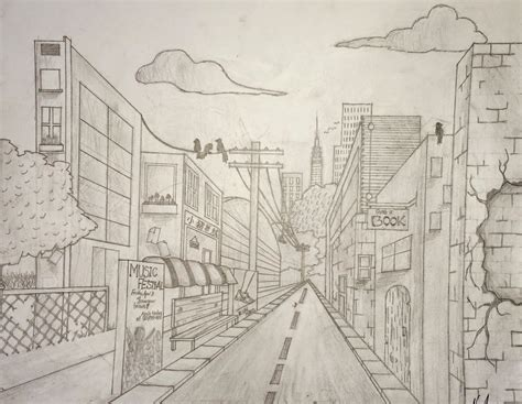 Perspective Street Drawing at GetDrawings.com