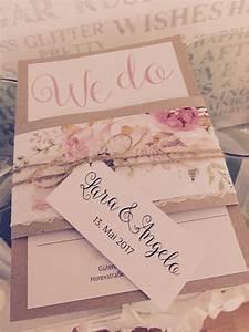 Einladungskarten Für Hochzeit : einladungskarten f r hochzeit vintage mit aquarell blumen watercolor kordel und kraft papier ~ Yasmunasinghe.com Haus und Dekorationen