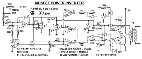 1000w mosfet power inverter circuit electronic circuit