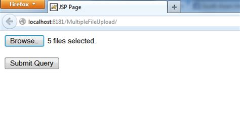 code to upload files simultaneously using jsp