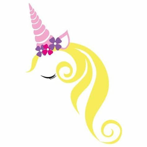 This unicorn face would be precious on a shirt, bag or even a pair of shoes! Unicorn SVG cut file - FREE design downloads for your ...