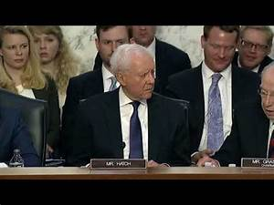 Hatch Lays Out Facts in Kavanaugh Hearing Opening ...