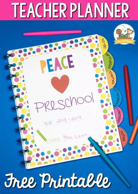 planner for preschool free printable pre k pages 498 | Rainbow Dot Teacher Planner for Preschool 1