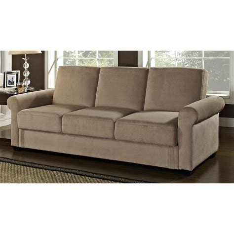 Convertible Sofa Sleeper by 87 Brown Upholstered 2 Convertible Sofa