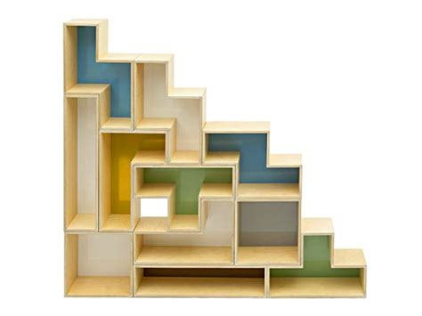 new shelf design tetris shelves inhabitat sustainable design innovation eco architecture green building