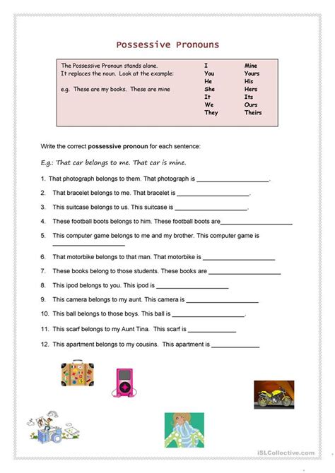 possessive pronouns worksheet free esl printable worksheets made by teachers
