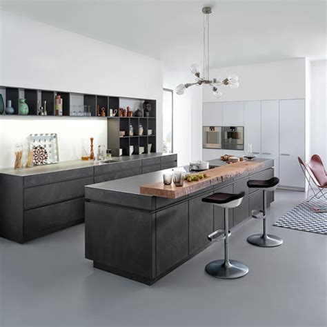 create  industrial style kitchen  concrete ideal home