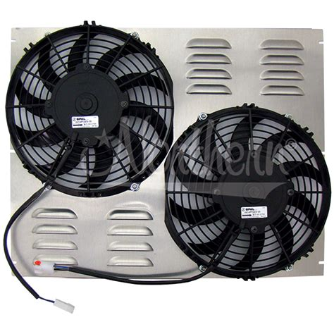 dual electric fans with shroud northern factory dual 10 quot electric fan shroud 16 1 2