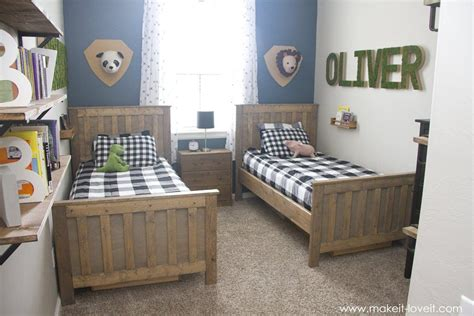 Shared boys room ideas legos, batman, and sports decor can easily become the theme of a shared brothers room. Ideas for a Shared BOYS Bedroom (…yay, all done!!) | Boy ...