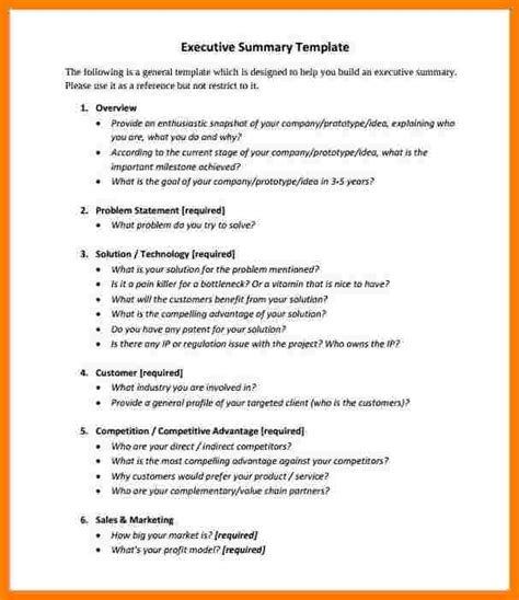 What Does Summary Statement by 7 What Does An Executive Summary Look Like Ledger Review